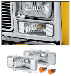 Custom Parklight Set 1980  Single Rectangle Headlight