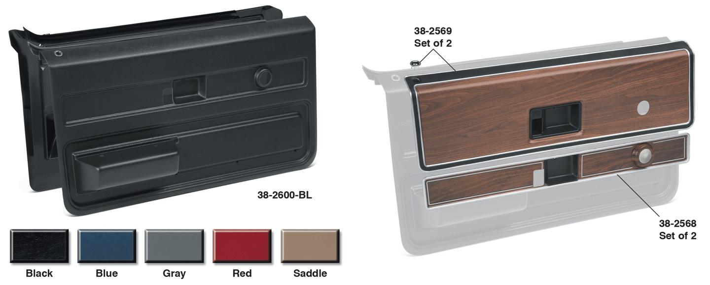 1973-76 Front Door Panel Sets