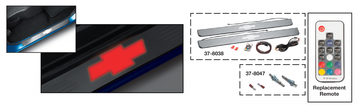 Threshold Plate Set with LED Bowtie