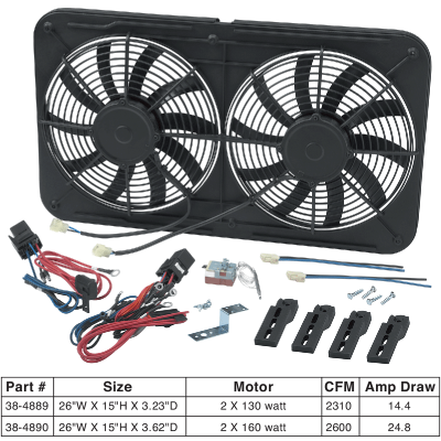 1973-89 Dual Electric Cooling Fan Assembly … 