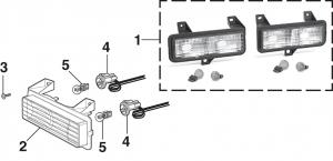 1989-91 Parklight - Models w/Single Headlights