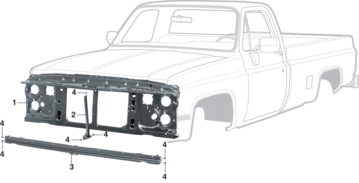 1981-91 Grille Mounting Components