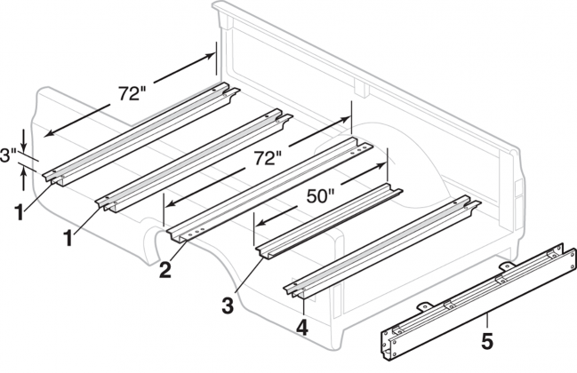 Fleetside Steel Bed Components