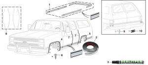 Pre-Cut Body Side Molding Set, Wheel Arch Molding and Door Edge Guard