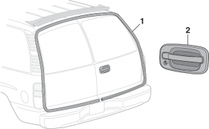 SUV Cargo Door Seals and Handle