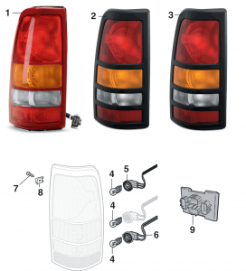 Tail Light - Fleetside