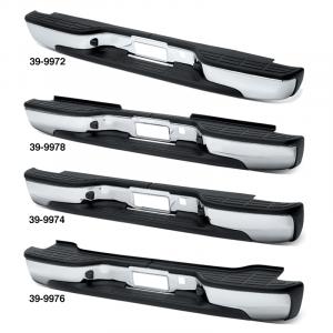Chrome Rear Step Bumper OE Style