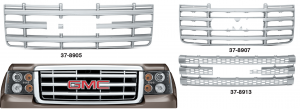 Chrome Grille Cover for GMC
