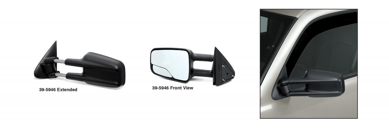GM Style Reproduction Camper Door Mirror