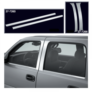 Polished Stainless Steel Door Pillar Trim and Beltline Trim