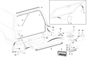 Tailgate and Liftgate Components