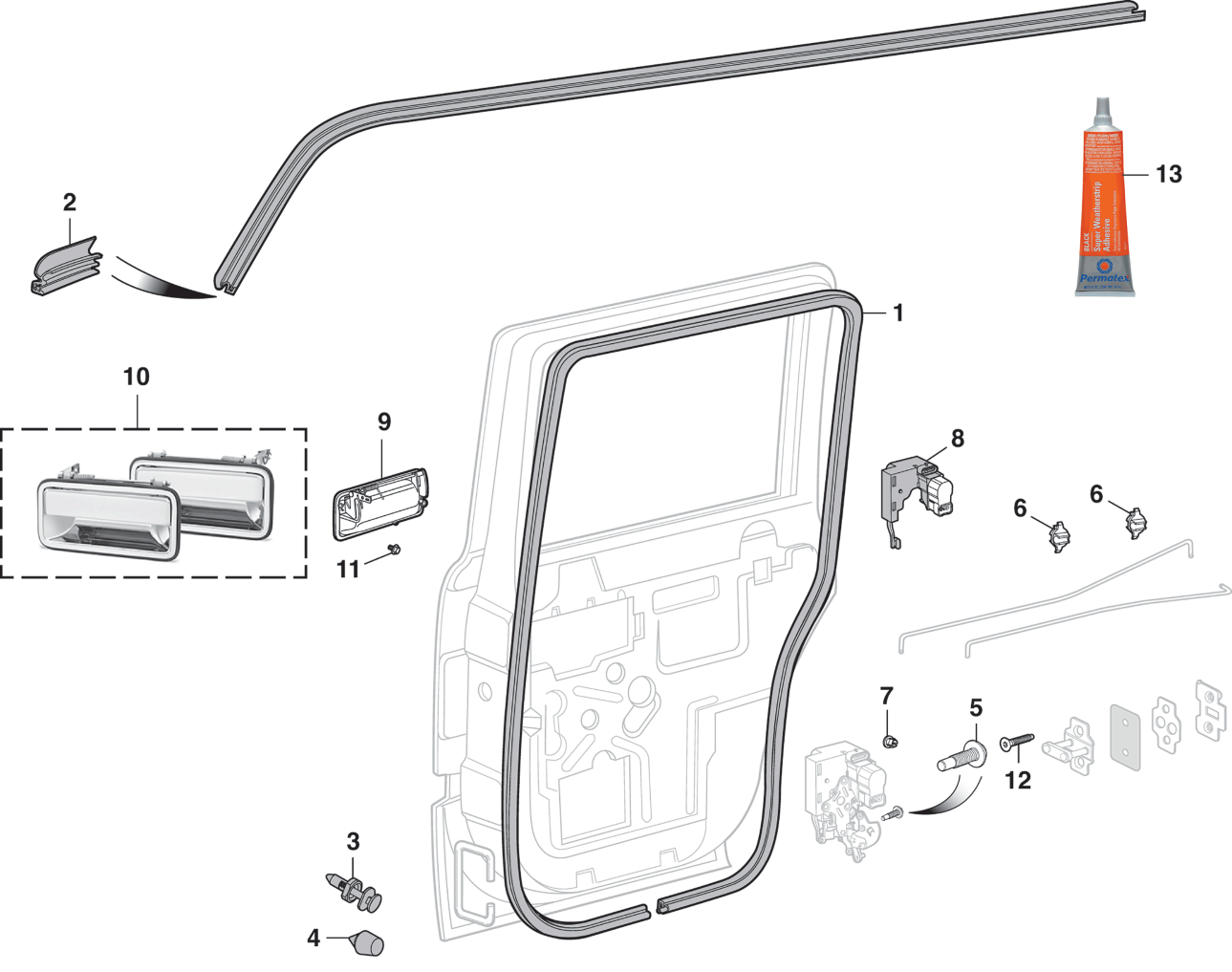 Side Rear Door Components