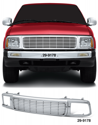 All Chrome 7 Bar Grille ... No Cutting or Drilling ... Just Bolt On