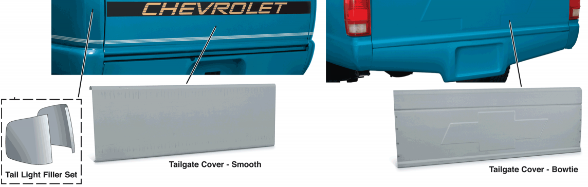 Tail Light Filler Set and Tailgate Covers ... For a Smooth, Stylish Appearance