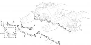 Steering Controls - 2 Wheel Drive