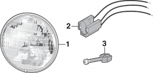 Headlight - Models with Single Headlight