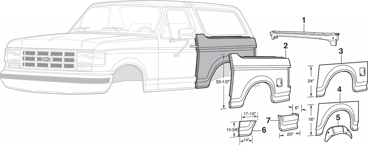 Rear Steel Body Parts