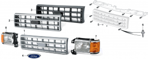Reproduction Grilles andHeadlight Assemblies