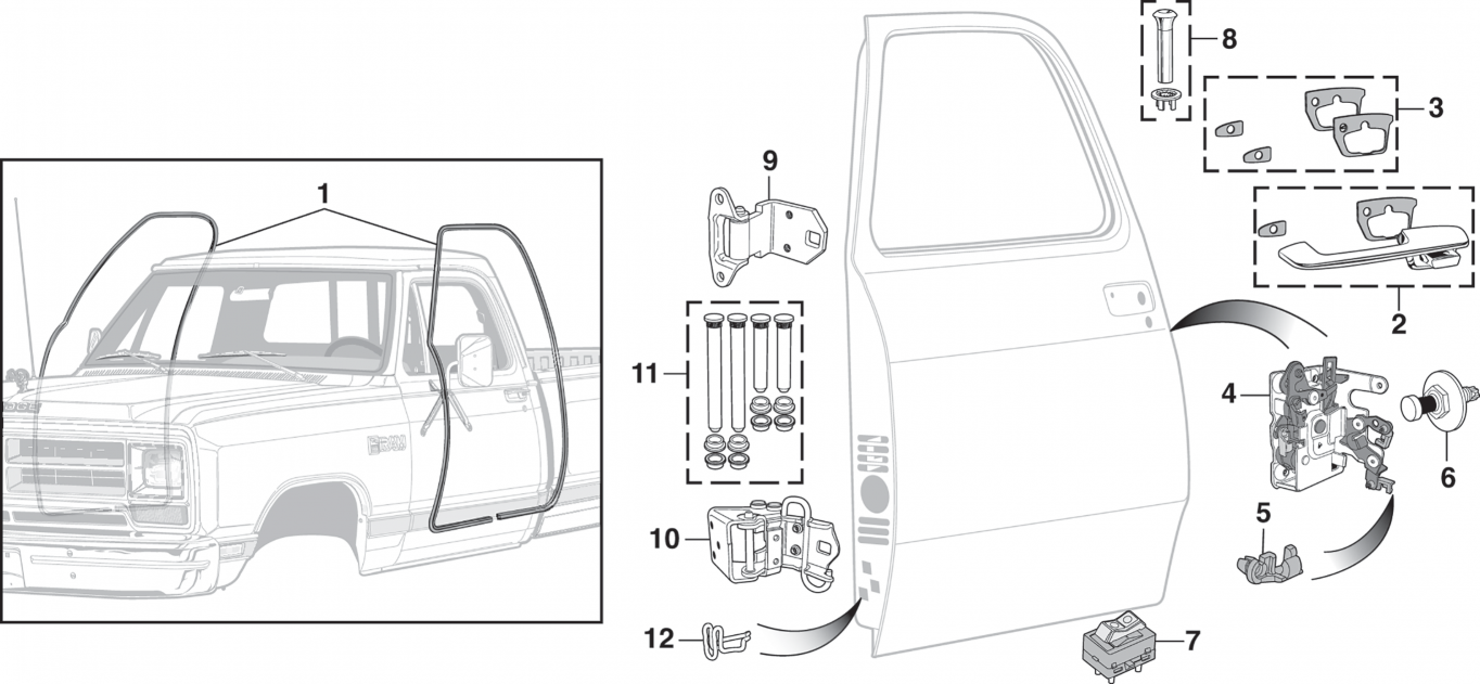 Front Door Components