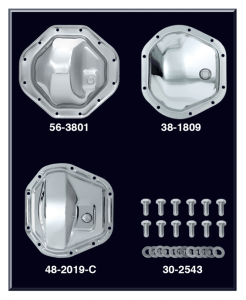 Chrome Differential Cover and Chrome Differential Bolt Set