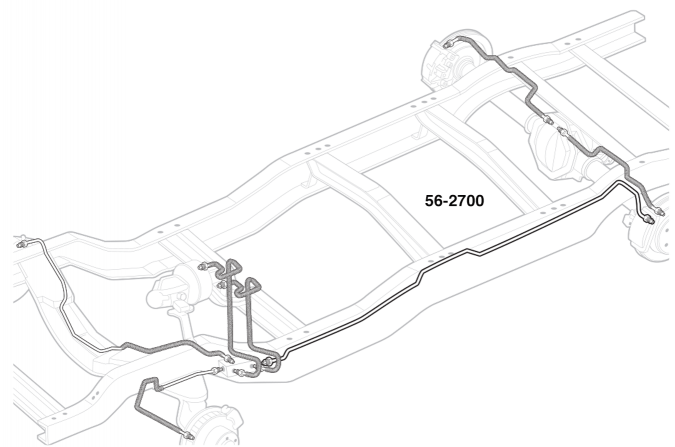 Pre-Bent Stainless Brake Line Sets