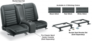 Pro Classic Sport Bucket Seat Set & Center Console