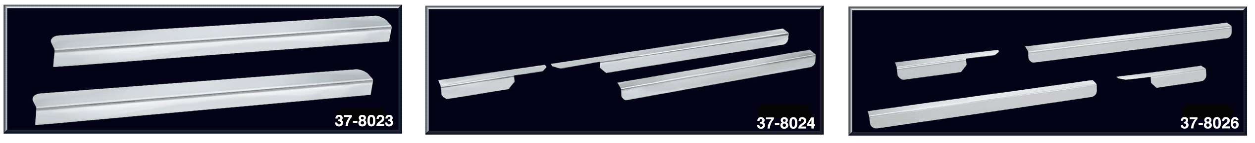 Polished Stainless Steel Threshold Plate Sets