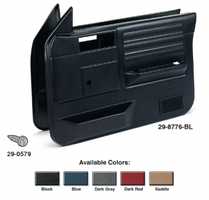 Replacement Front Door Panel Sets Models WITHOUT Power Windows