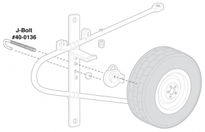 Spare Tire Carrier Components - Swing Away