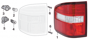 Flareside Tail Light Components