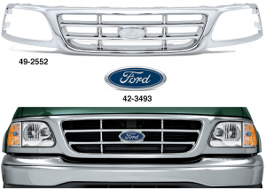 All Chrome Replacement Grille - Honeycomb Style