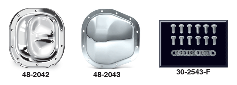 Chrome Rear Differential Covers