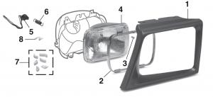 Headlight - Models with Sealed Beam Headlights