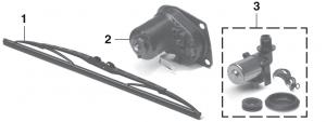 Windshield Wiper and Motor