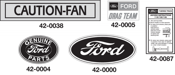 Decals for Ford Vans