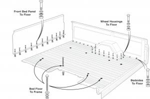 Fleetside Steel Bed Floor Hardware