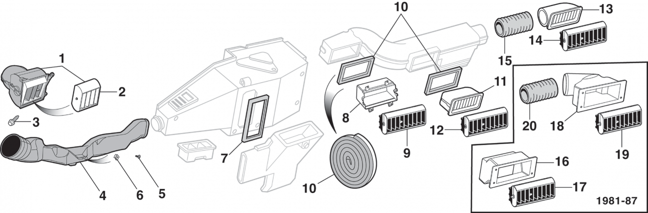 1973-89 Vent Assemblies and Outlets