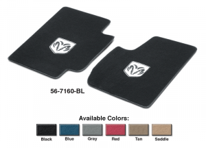 Logo Floor Mat Set Protects Your Carpet