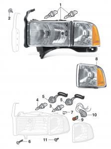Headlight and Parklight