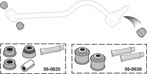 Polyurethane Tracking Arm Bushing Set