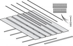 Stepside Oak Bed Wood Conversion Kit - Shortbed