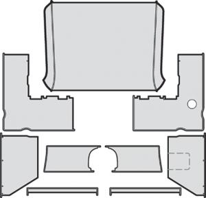 Interior Headliner and Kick Panel Kit
