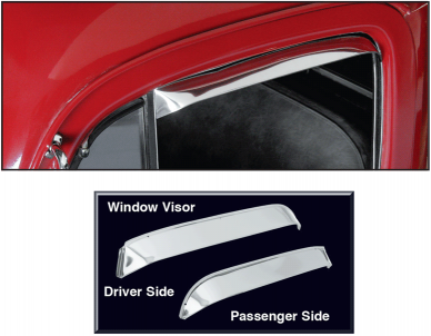 Stainless Steel Window Visor ... Lets Fresh Air In and Keeps Rain Out