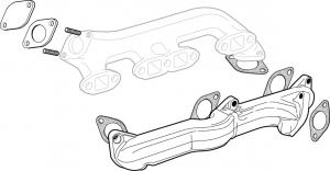 Flathead V8 Dual Exhaust Manifold Kit