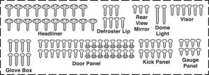 Stainless Steel Interior Trim Screw Kits