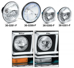 Custom Headlights … Brighter Light for Greater Distance