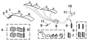 V8 Spark Plug Heat Shield and Wire Separators