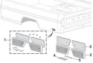 Styleside Rear Bedside Reflector - Red