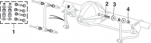 Front Sway Bar Components 4 Wheel Drive