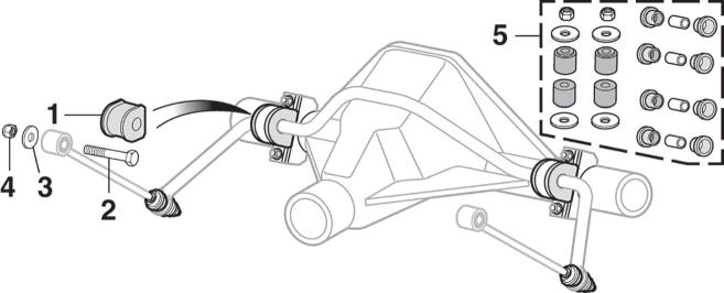Rear Sway Bar Components